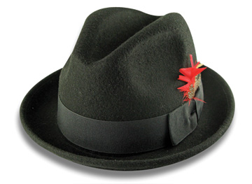 GodFather Style Soft Felt Men s Hat with Feather - .   ModaOmbre   . 068d1ecb9b54